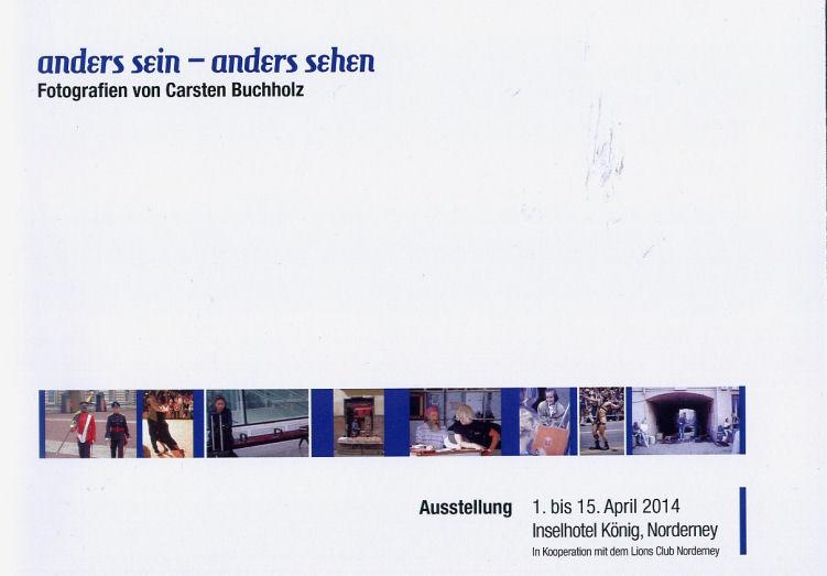 Katalog für die Ausstellung Aners sein - anders sehen